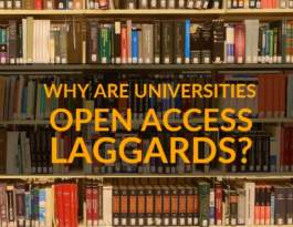 Why are universities open access laggards PB